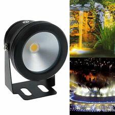1/4X DC 12V LED warm white/white IP68 10W underwater spotlight floodlight lamp
