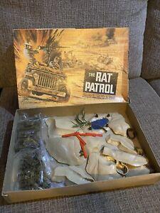 Vintage Aurora 1967 The Rat Patrol TV Jeep Army Tank Model Kit Military w/Box