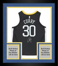 Framed Stephen Curry Golden State Warriors Signed Gray Statement Edition Jersey