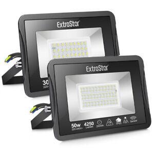 LED Floodlight Microwave sensor 30/50W Outdoor Garden Security Flood Light IP65