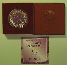 Österreich 25 € Niob 2005 - 50 Jahre Fernsehen - im Etui mit Zert.