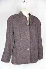 Vintage Victoire Bergdorf Goodman lined burgundy Tweed Jacket 14
