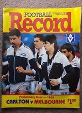 VFL1988 PRELIMINARY FINAL RECORD     CARLTON V MELBOURNE