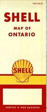 1958 Shell Road Map: Ontario NOS