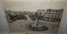 ROMA PIAZZA DELL ESEDRA E STAZIONE TERMINI 1939 Vecchia cartolina fotografia di