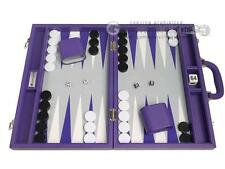16-inch Premium Backgammon Set - Purple Board | Backgammon Boards, Sets, Games