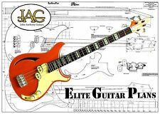 Luthiers piani di costruzione per una JAG Retrovibe RB1 BASS GUITAR P048