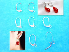 20PCS Lever Back Earring Findings Silver Plated Loo French Ear Clip HOT NEW