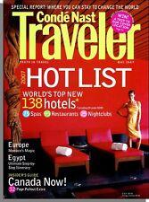 Conde Nast Traveler - 2007, May - The Hot List, Canada, Monte Carlo, India