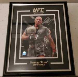 Autographed Framed George St-Pierre UFC Photo