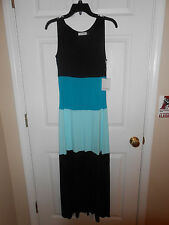 Ladies Calvin Klein Full Length Dress...Black/Blue...2...NWT