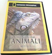 NATIONAL GEOGRAPHIC ENCICLOPEDIA DEGLI ANIMALI RETTILI I DVD DOCUMENTARIO OTTIMO