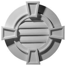 """30""""W x 30""""H x 1 1/8""""P, Round Gable Vent with Keystones, Non-Functional"""