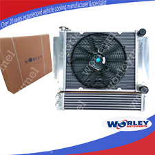 Aluminum radiator+Fan+Oil Cooler for Mazda RX2 RX3 RX4 RX5 without heater pipe