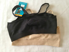 BARELY THERE S 2 T-shirt Brases Beige Black size: S New with Tags MRSP $30.00