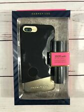 Dabney Lee iPhone 7 Plus Case With Power Bank Charger Black Gold New