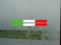 2x Italy Italian Flag Stripe  Car Window Bumper Vinyl Decals Stickers
