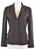 HUGO BOSS Womens 2 Button Blazer Jacket UK 10 Small Black Loose Fit  AH17
