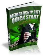 Membership Site Quick Start Guide Ebook On CD $5.95 + Resale Rights Free Shiping