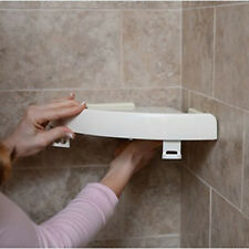 Snap Up Bathroom Corner Shelf Rack Triangle Polymer-Grip Home Storage Organizer