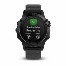 Garmin Fenix 5 Black Sapphire with Black Band Gps Multisport Watch