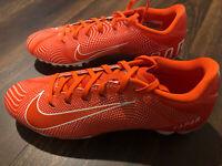 NWOB Nike Men's Vapor Untouchable 3 Speed Football Cleats Size 10.5 Orange White
