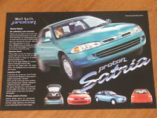 c1997 Proton Satria Hatch original Australian single page brochure
