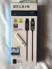 Belkin FireWire 800/800 9-pin to 9-pin cable 6ft 1.8m Black TATTY PACKAGING