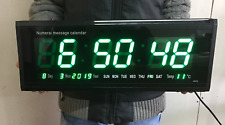 Digital LED Wall Numeral Clock B2410 Temperature Office Hall Exams Days Week NEW