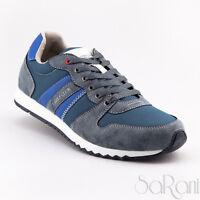 Scarpe Uomo U.S. Golf Club Casual Sneakers Basse Blu Sportive Camoscio Lacci