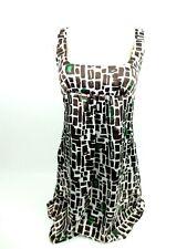 PINK POLKA DOT by Sharise Neil Boho Mini Dress Tunic TOP Women's Small