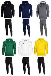 adidas Core 18 Herren Trainingsanzug Jogginganzug Kapuzenbluse Fleece