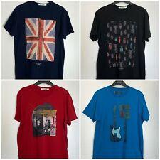 Ben Sherman Cotton Crew Neck T-Shirts  4 Prints Size Medium & Large New