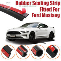 Car Seal Strip Kit Rubber Weather Draft Wind Noise Reduction For Ford Mustang