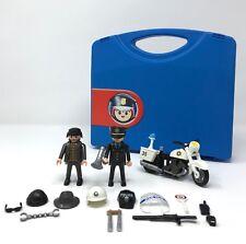 Vintage Playmobil Police Robber Take-A-Long set carrying case lot take a long a
