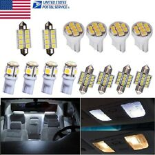 14PCS Bright White LED Interior Package Kit T10&31mm Dome Map License Lights US