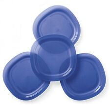Tupperware Alfresco Large Microwave Safe Luncheon Plates (4) Tokyo Blue