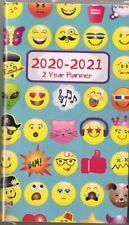 EMOJI'S  2020-2021 - 2 YEAR POCKET CALENDAR AGENDA PLANNER APPOINTMENT BOOK