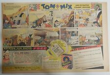 """Ralston Cereal Ad: Tom Mix """"Ralston Sun Watch"""" Premium 1936 Size:11 x 15 inches"""