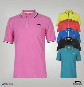 Mens Slazenger Short Sleeves Tipped Polo Shirt Top Sizes from S to XXXXL