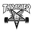 THRASHER Adhesivo de skateboard - varios logos colores - THRASHER MAGAZINE