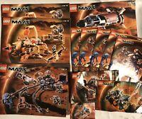 Life On Mars Lego Instruction Manual Lot Of 12