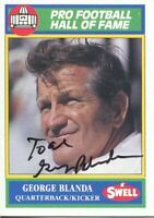 George Blanda Oakland Raiders Kentucky Wildcats HOF Signed Autograph Photo Card