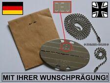 """100% orig. aktuelle """"DEU"""" Erkennungsmarke Wunschprägung Bundeswehr BUND DogTag"""