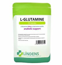Lindens L-glutamine 500mg 90 Capsules Amino Acids Exercise Muscle