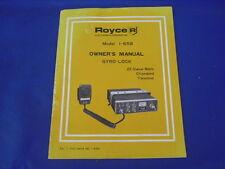 NICE Vintage Royce Model I-658 Gyro-Lock 23 Channel CB Owners Manual $6.95