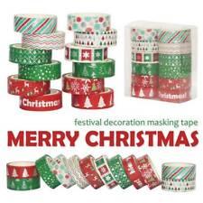 12 Pcs Christmas Decorative Duct Tape Holiday Washi Tape Craft Decor