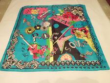 AUTHENTIC VERSACE  SILK SCARF ROCK MUSIC 86 X 86