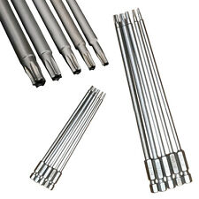 8pcs T8-T40 150mm Long Steel Magnetic Torx Security Electric Screwdriver Bit Set