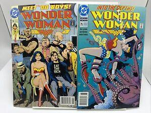 Wonder Woman #74 And #75 Comic Lot Punks / Octopus